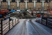 Die Baustelle der ABL-Überbauung Himmelrich in Luzern. (Bild: Nadia Schärli (Luzern, 30. November 2016))