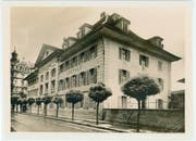 Blick auf die Waisenanstalt an der Baselstrasse, aufgenommen zwischen 1911 und 1975.Bild: Stadtarchiv Luzern, B2N/0312