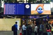 So sieht es am Schluss aus: Eine neue Anzeigetafel am Flughafen Genf Cointrin. (Bild: PD)