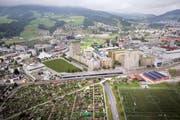 Aufgrund der Mobilitätsanbindung entstehen im LuzernPlus Gebiet wie in Luzern Süd neue Zentren. (Bild: Visualisierung Scheitlin Syfrig Architekten)