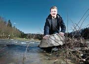 «Wasser ist ganz einfach mein Element», sagt Kevin Keiser. (Bild: Stefan Kaiser (Baar, 10. März 2017))