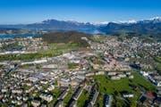 Blick auf Kriens-Süd. (Bild: Philipp Schmidli (Kriens, 21. April 2017))