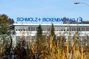 Schmolz+Bickenbach Produktionshalle in Emmenbrücke. (Bild: Keystone)