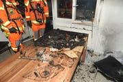 Der Brand wurde wohl durch einen brennenden Adventskranz ausgelöst. (Bild: Kantonspolizei Uri)