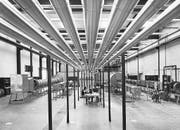 Blick ins Labor für Lüftungstechnik (1977) in Horw. (Bild: Archiv Hochschule Technik und Architektur)