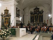 Das grosse Jubiläumskonzert des Orchestervereins in der Pfarrkirche Malters. (Bild: Roger Grütter (5. November 2017))