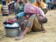 Rohingya in einem Flüchtlingslager in Bangladesch an der Grenze zu Myanmar. (Bild: Emrul Kamal/AFP/Getty (Ukhiya, 29. August 2017))