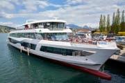 Das neue Motorschiff mit dem Projektnamen «MS2017» der SGV. (Bild: SGV)