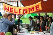 Am ersten Street-Food-Market wollen die Veranstalter Vielfältiges und Überraschendes für den Gaumen bieten. (Bild: Christian H. Hildebrand / Neue ZZ)