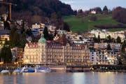 Das Luzerner Hotel Palace ist bald in chinesischer Hand. (Bild: Dominik Wunderli / Neue LZ)