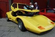 Eines der Highlights des Oldtimer-Treffens war der gelbe Sterling Sportwagen. (Bild: PD)