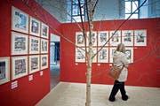 Eine Besucherin betrachtet Werke anlässlich der Comix-Festival Fumetto in Luzern. (Archivbild Pius Amrein)
