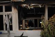 Der Brand verursachte im Kindergarten grossen Rauchschaden. (Bild: Kapo Schwyz)