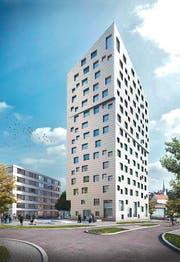 So soll das Horwer Hochhaus aussehen. (Bild: Visualisierung: PD)