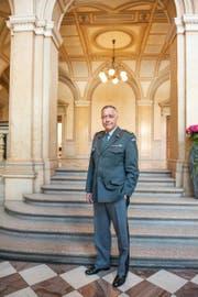 Korps- kommandant André Blattmann, Chef der Schweizer Armee, posiert im Bundeshaus. (Bild: Ex-Press/Christine Bärlocher)