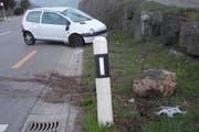 Die Unfallstelle in Schwyz. (Bild: Kapo Schwyz)