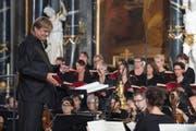 Die Aufführung der Bach-Messe unter der Leitung von Johannes Meister war ein wahres Klangspektakel. (Bild: Maria Schmid)
