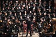 Das Bach-Ensemble Luzern bei seinem Auftritt am Sonntag in der Franziskanerkirche. (Bild: Boris Bürgisser (Luzern, 11. März 2018))