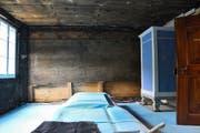 Wand in Bohlenständerbauweise. Bild: PD