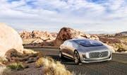 Der Mercedes F015 ist ein besonders luxuriöser Prototyp eines autonomen Autos. (Bild: Keystone)