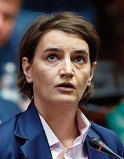 Die neue serbische Regierungschefin Ana Brnabic. (Bild: AP)