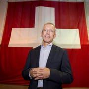 Werner Widmer hat mit seinem neuen Hymnentext den Wettbewerb der gemeinnützigen Gesellschaft gewonnen. (Bild: Keystone/Urs Flüeler)