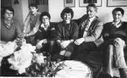 Die Familie Gmür Anfang der Achtzigerjahre, als Vater Walter zum Fritschivater für das Jahr 1982 gewählt wurde: Philipp, Peter, Thomas, Annemarie, Walter und Felix (von links). (Archivbild «Vaterland»)