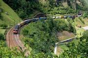 Die Gotthardstrecke bei Gurtnellen. (Bild: Keystone (Archiv))