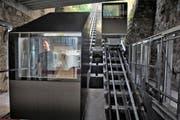 Zurzeit wird die neue Gütsch-Bahn noch getestet. Im Bild Gabriel Klauser von der Inauen-Schättli AG bei einer Testfahrt. (Bild Nadia Schärli)