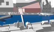 Vision zur Erneuerung des Theaterplatzes zwischen Theater und Jesuitenkirche. (Bild: Blindtext Blindtext)