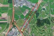 Auf der Chamer- und Luzernerstrasse in Rotkreuz wird neuer Strassenbelag aufgebracht. (Bild: search.ch / luzernerzeitung.ch)