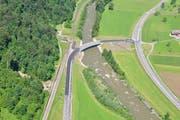 Die Langnauerbrücke wurde eingeweiht. (Bild: zvg/Kanton Luzern)