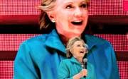 Hillary Clinton an einer Wahlveranstaltung in Miami. Bild: AP/Andrew Harnik (Miami, 29. Oktober 2016)