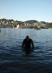 Jürg Ammann bei der Ankunft in Luzern. (Bild: pd)