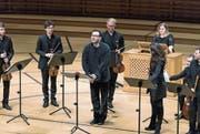 Sänger mit beschwörendem Erzählton: Andreas Scholl mit dem Ensemble 1700 im Konzertsaal des KKL. (Bild: Roger Grütter (2. Dezember 2017))