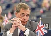 Der EU-Parlamentarier und frühere Ukip-Vorsitzende Nigel Farage. (Bild: Patrick Seeger/EPA (Strassburg, 14. Juni 2017))