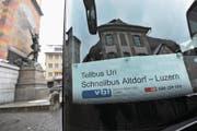 Das Tellbus-Angebot zwischen Altdorf und Luzern wird mit dem Fahrplan 2018 noch erweitert. (Bild: Urs Hanhart (Altdorf, 4. Dezember 2017))