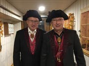 Zunftmeister Antonio 27. (rechts) und sein Weibel Pius Fallegger. (Bild: PD)