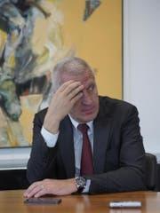 Pierin Vincenz, ehemaliger Raiffeisen-Chef, sitzt derzeit in Untersuchungshaft. (Bild: HANSPETER SCHIESS)