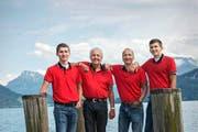 Vereint durch die Ländlermusik: Mitchell Gander, Ronnie Scheiber, Herbie Gander, Bobby Gander (von links). (Bild: Dominik Wunderli / Neue LZ)