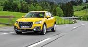 Der Audi Q2, der Neuling in der SUV-Familie, fällt auf mit kompakten Abmessungen und neuen Design-Ideen.Bild Werk