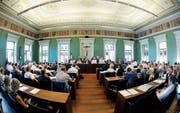 Der Kantonsrat könnte zukünftig über die Amtsenthebung von Regierungsräten entscheiden. Bild: Stefan Kaiser (Zug, 25. August 2016)