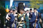Eine schottische Sache: Nicht nur das Instrument, sondern auch das Outfit ist für Dudelsackspieler entscheidend. (Bild Pius Amrein)