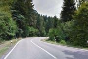 Die kurvenreiche Strecke im «Boowald» ist bei Geschwindigkeit liebenden Töff- und Autofahrern sehr beliebt. (Bild: Maps Goofle)