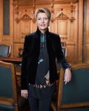 Karin Keller-Sutter präsidiert ab Ende Monat die kleine Kammer. (Bild: Christian Beutler, Keystone (Bern, 25. September 2017))