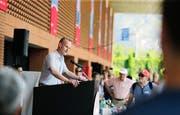 Bildungsdirektor Stephan Schleiss hat die Begrüssungsrede im Centro Sportivo Tenero gehalten. (Bild: Neue ZZ / Stefan Kaiser)