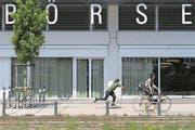 Die Neue Börse Zürich-West des SIX-Hauptsitzes in Zürich. (Bild: Ennio Leanza/Keystone)