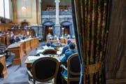 Blick in die Kleine Kammer im Bundeshaus. Drei der insgesamt zehn Zentralschweizer Sitze werden am Sonntag noch vergeben. (Bild: Keystone/Alessandro della Valle)