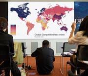 Der Global-Competitiveness-Index des Davoser Weltwirtschaftsforums wurde gestern in Genf vorgestellt. (Bild: Laurent Gillieron/Keystone)