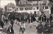 Kriens anno dazumal: Sängerfest 1912. (Bild: Foto aus Privatbesitz)